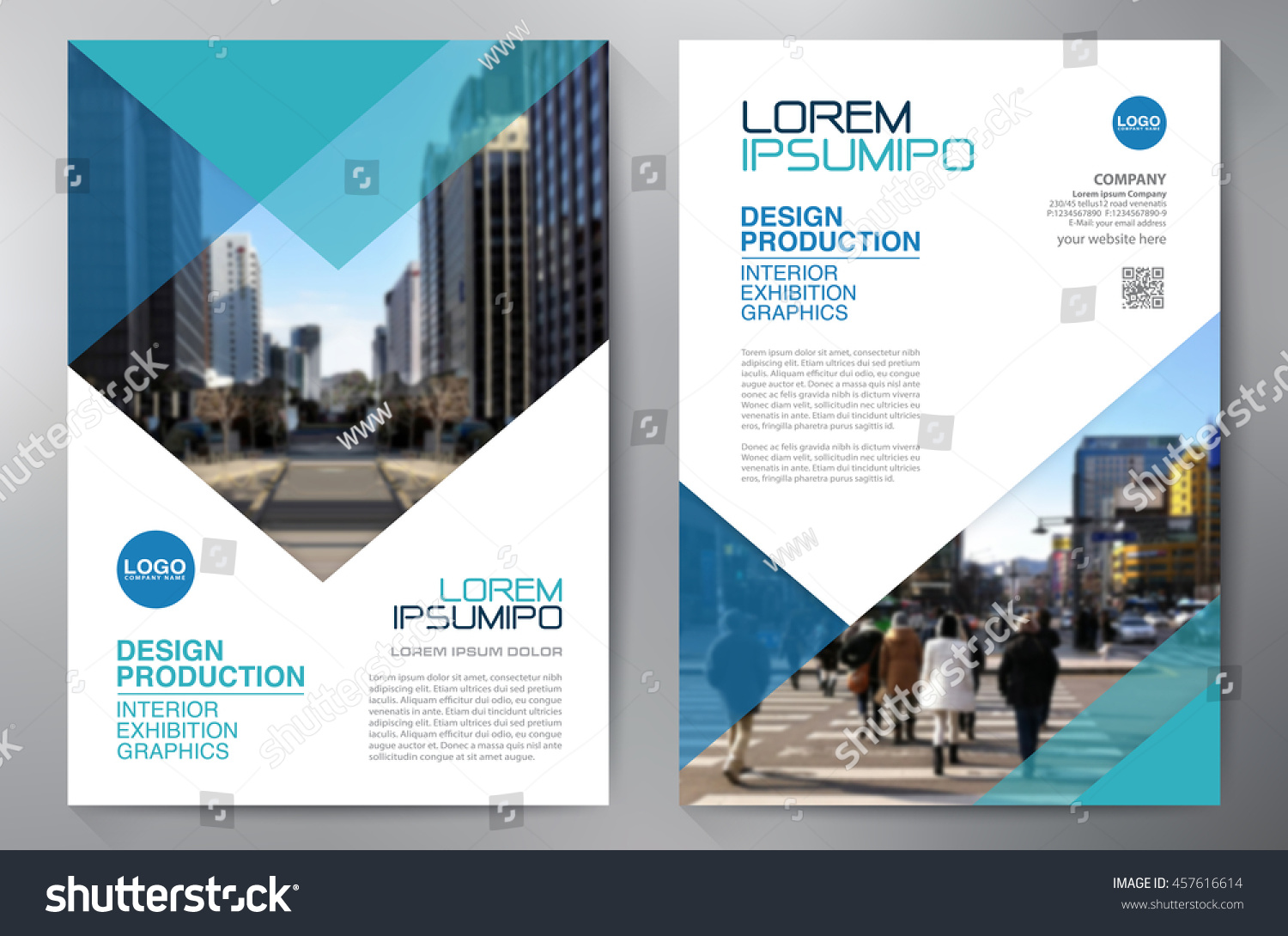business brochure flyer design a 4 template stock vector royalty