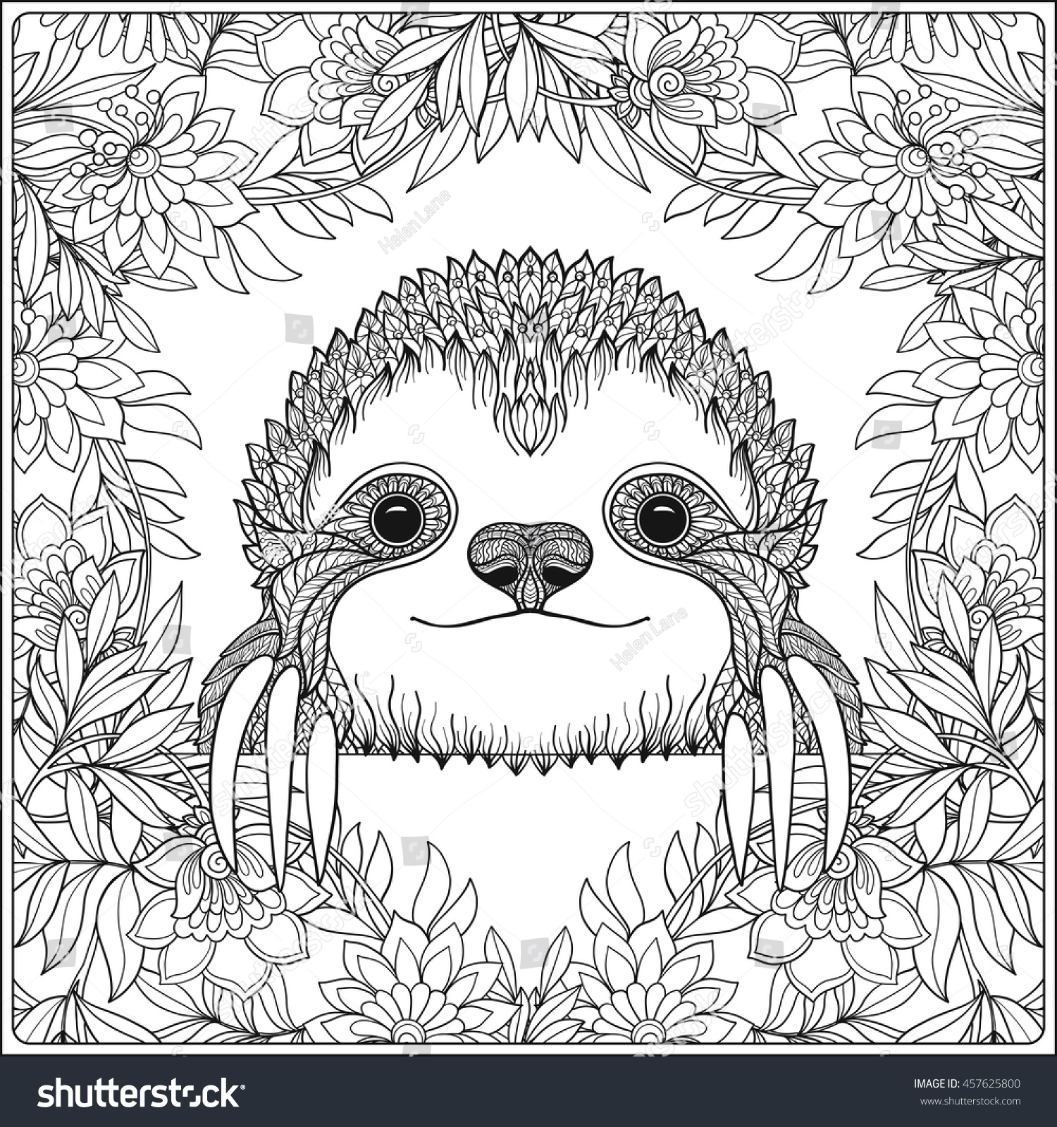 Clip Art Sloth Coloring Pages sloth coloring page futpal com pages eassume