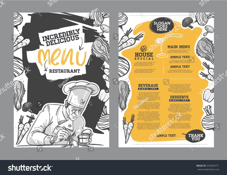 creative menu design menu template layout stock vector (royalty free