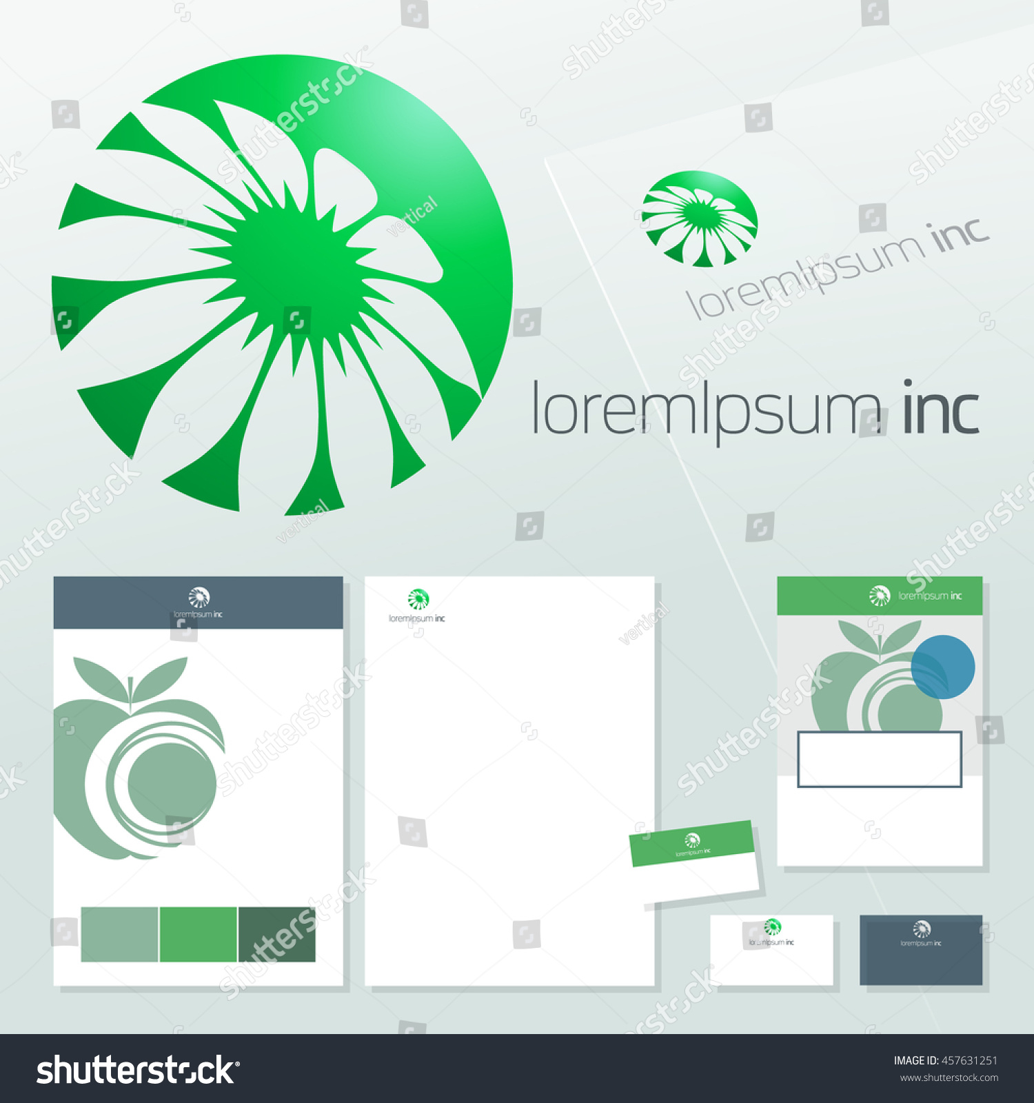 Office Stationery Design Business Documentation Vector Stock Vector