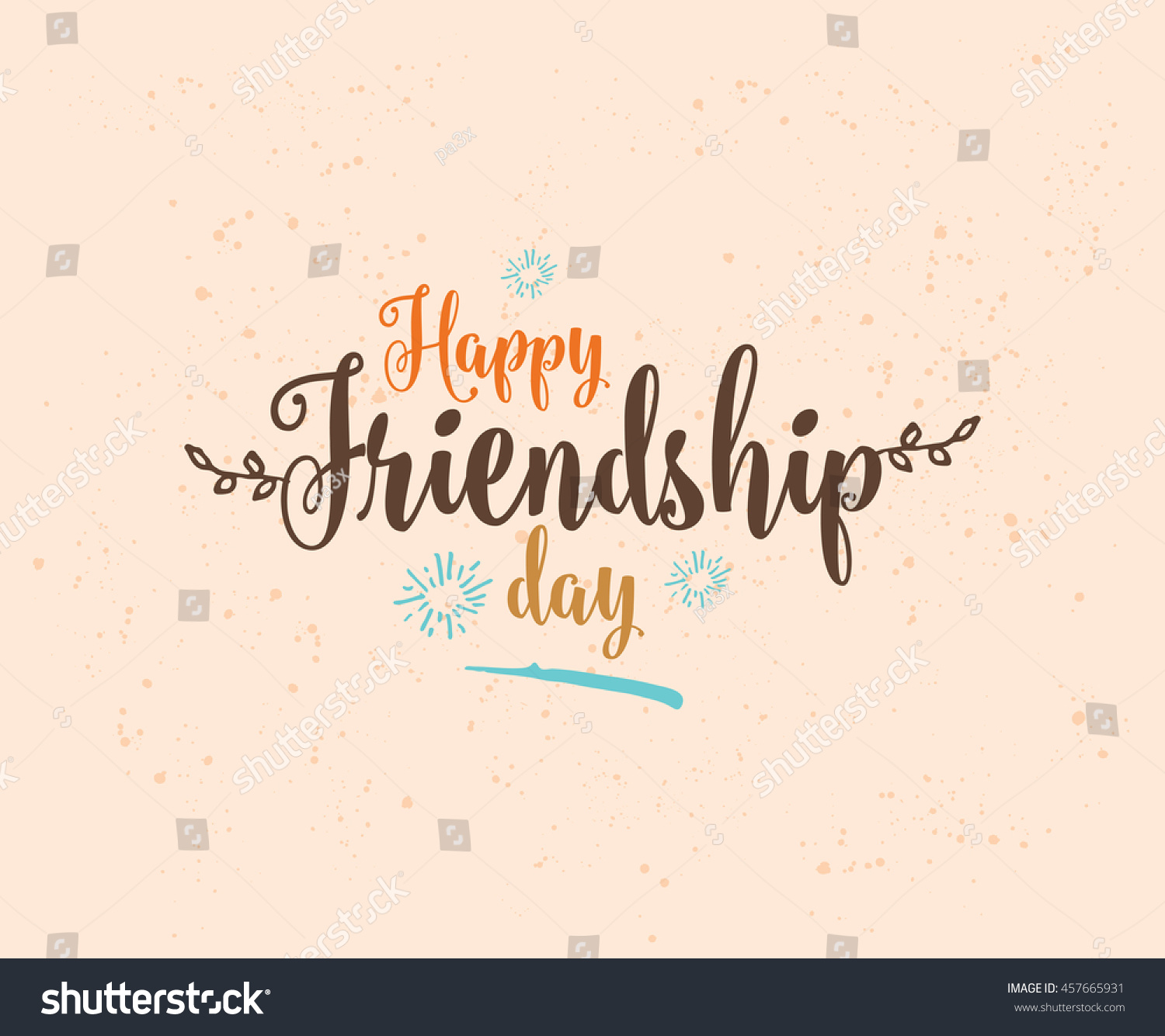 Happy Days Quotes Inspirational: Happy Friendship Day Vector Typographic Design