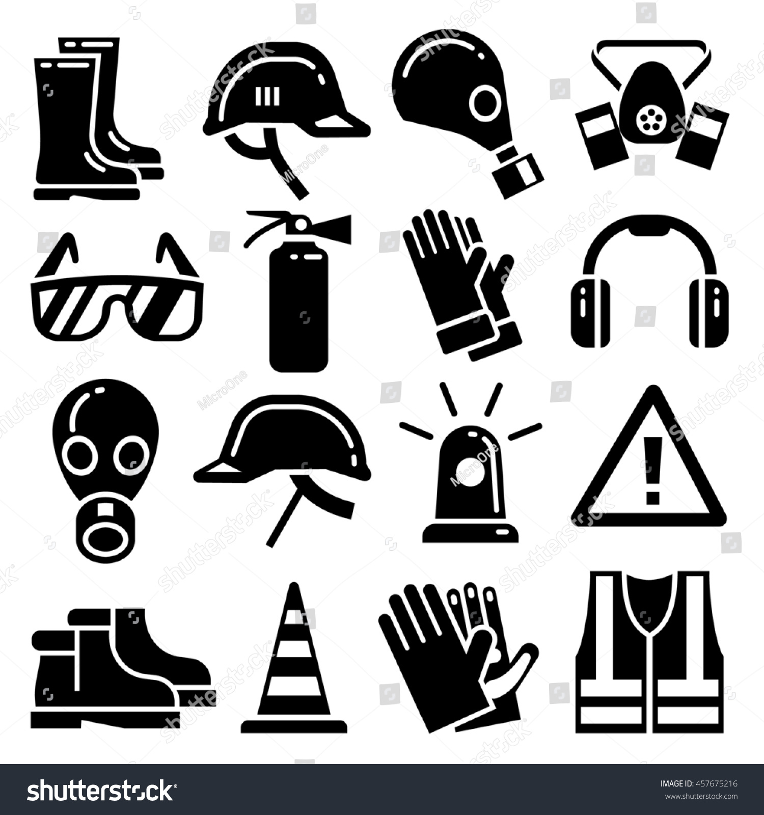 personal protective equipment icons set stock illustration royalty Spraying PPE personal protective equipment icons set