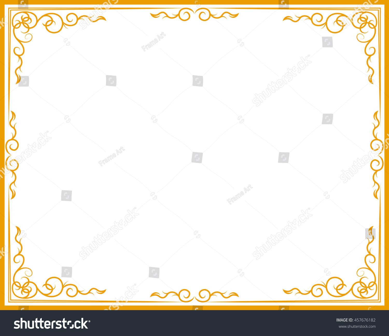d232c8fe053 Gold photo frame with corner line… Stock Photo 457676182 - Avopix.com