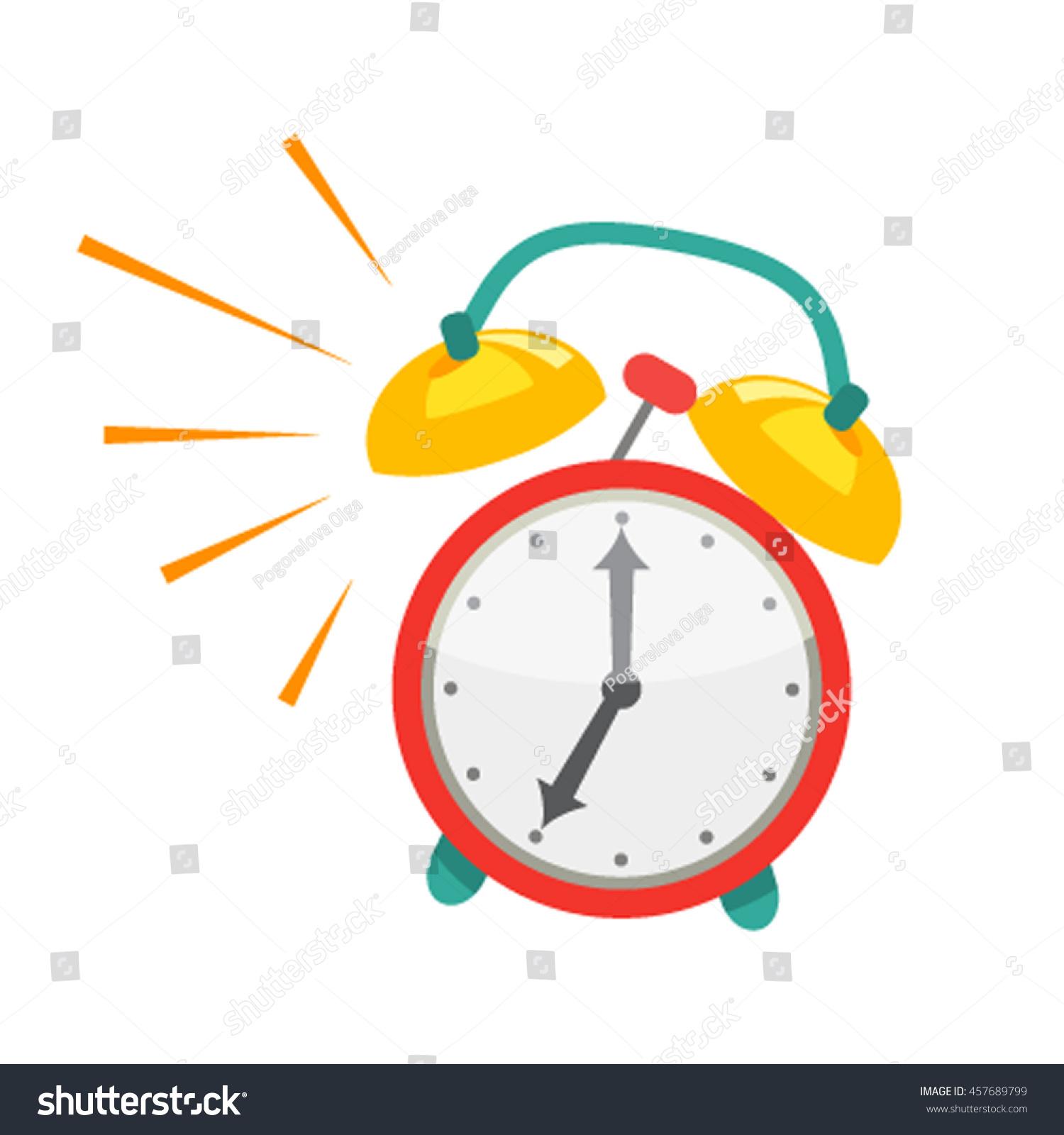 alarm clock wakeup time school work stock vector 2018 457689799 rh shutterstock com Alarm Clock Clip Art Blank Clock Clip Art