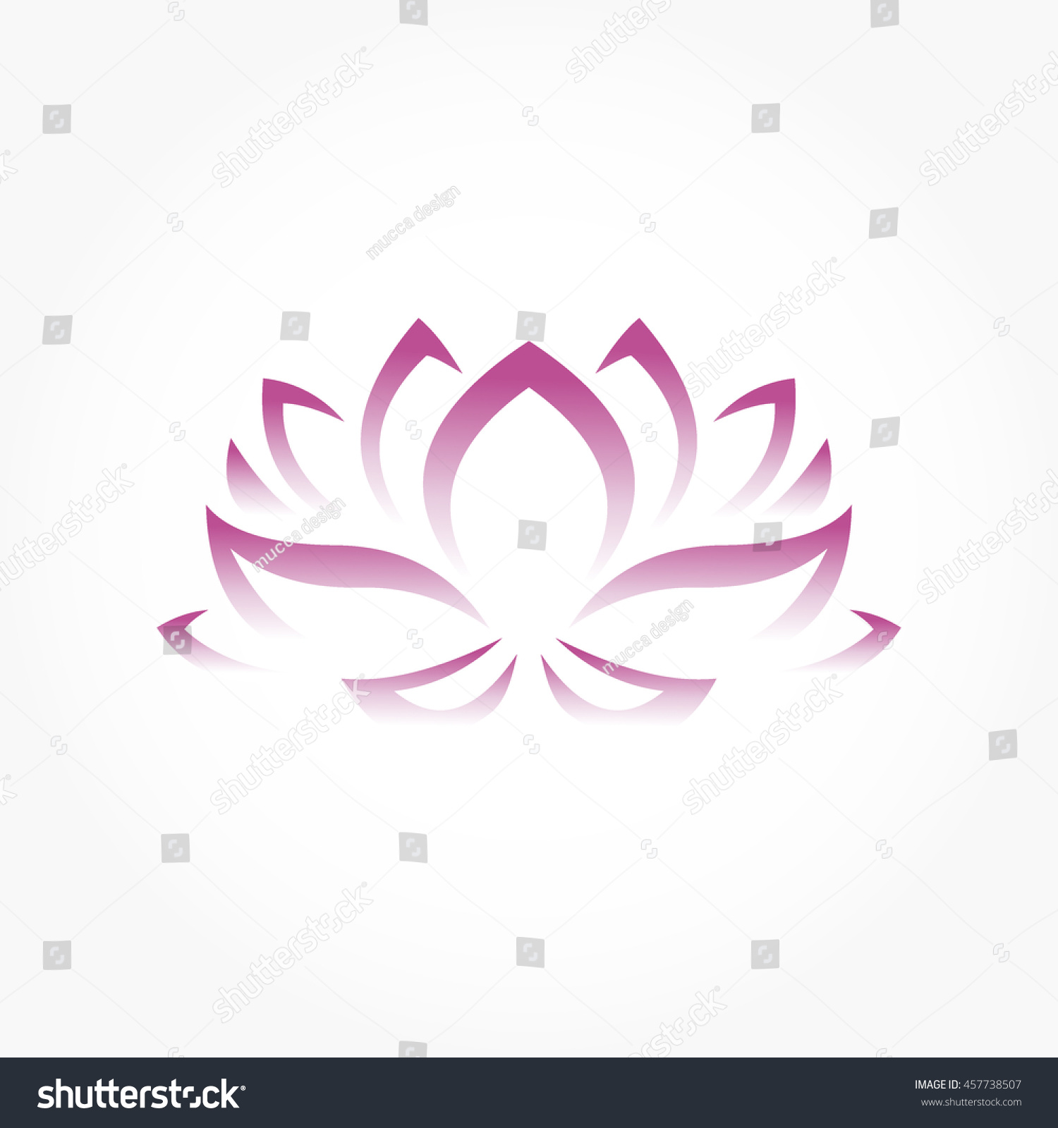 Lotus Flower Symbol Gradient Purple Stock Vector Royalty Free