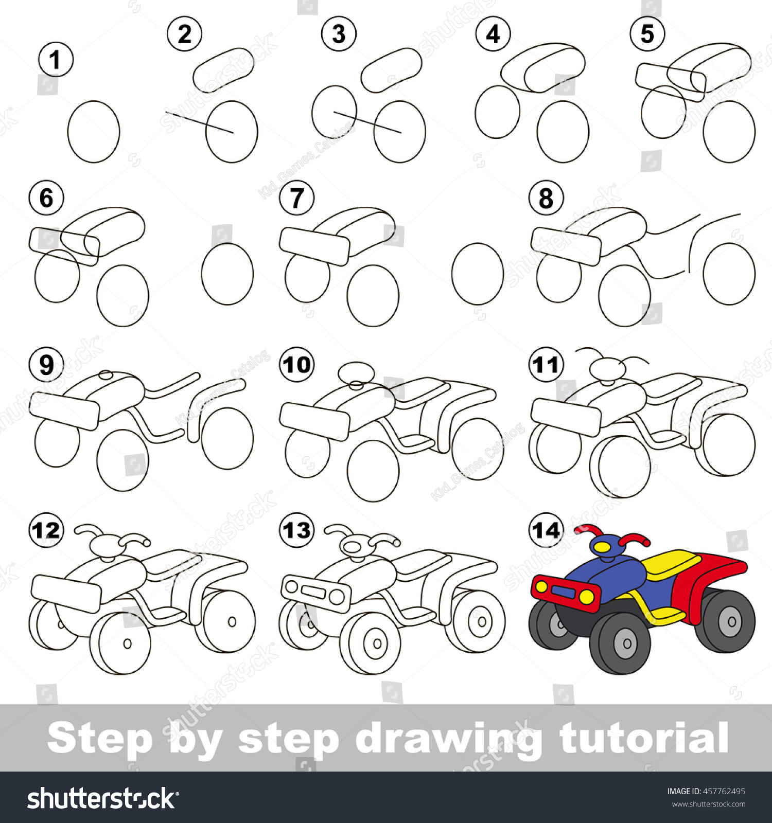 Easy educational kid game. Simple level of difficulty. Gaming and  education. Drawing tutorial
