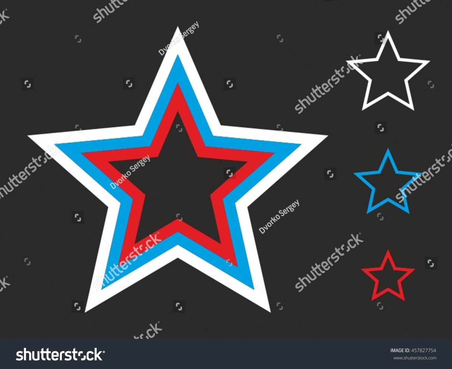 star made colors russian flag stock vector 457827754 shutterstock
