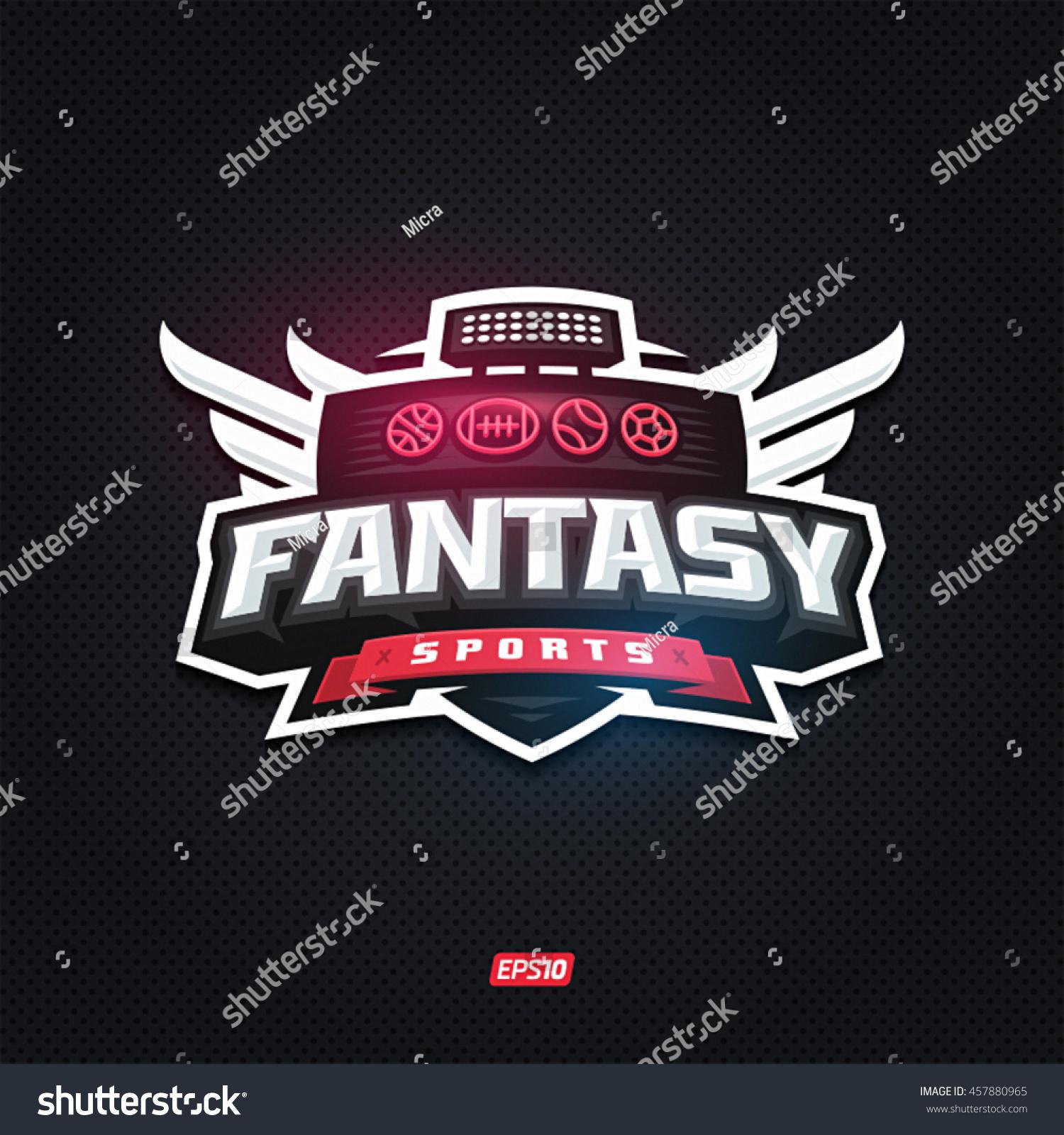 Modern professional fantasy sports template logo design