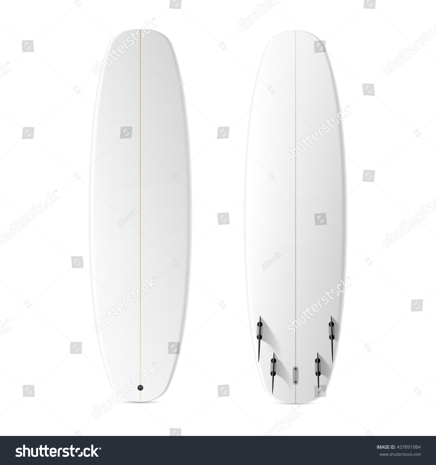 blank surfboard template vector stock vector royalty free