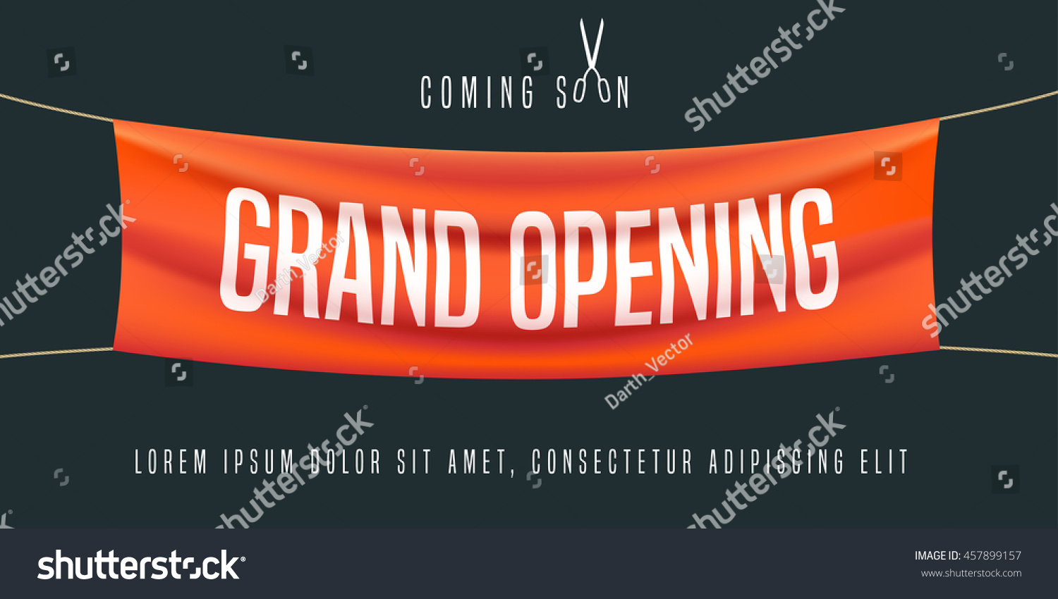 Grand Opening Vector Illustration Background New Stock Vector