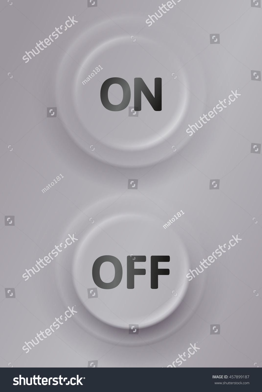 Turn Off Turn On Switch Vector Stock Vector Royalty Free 457899187