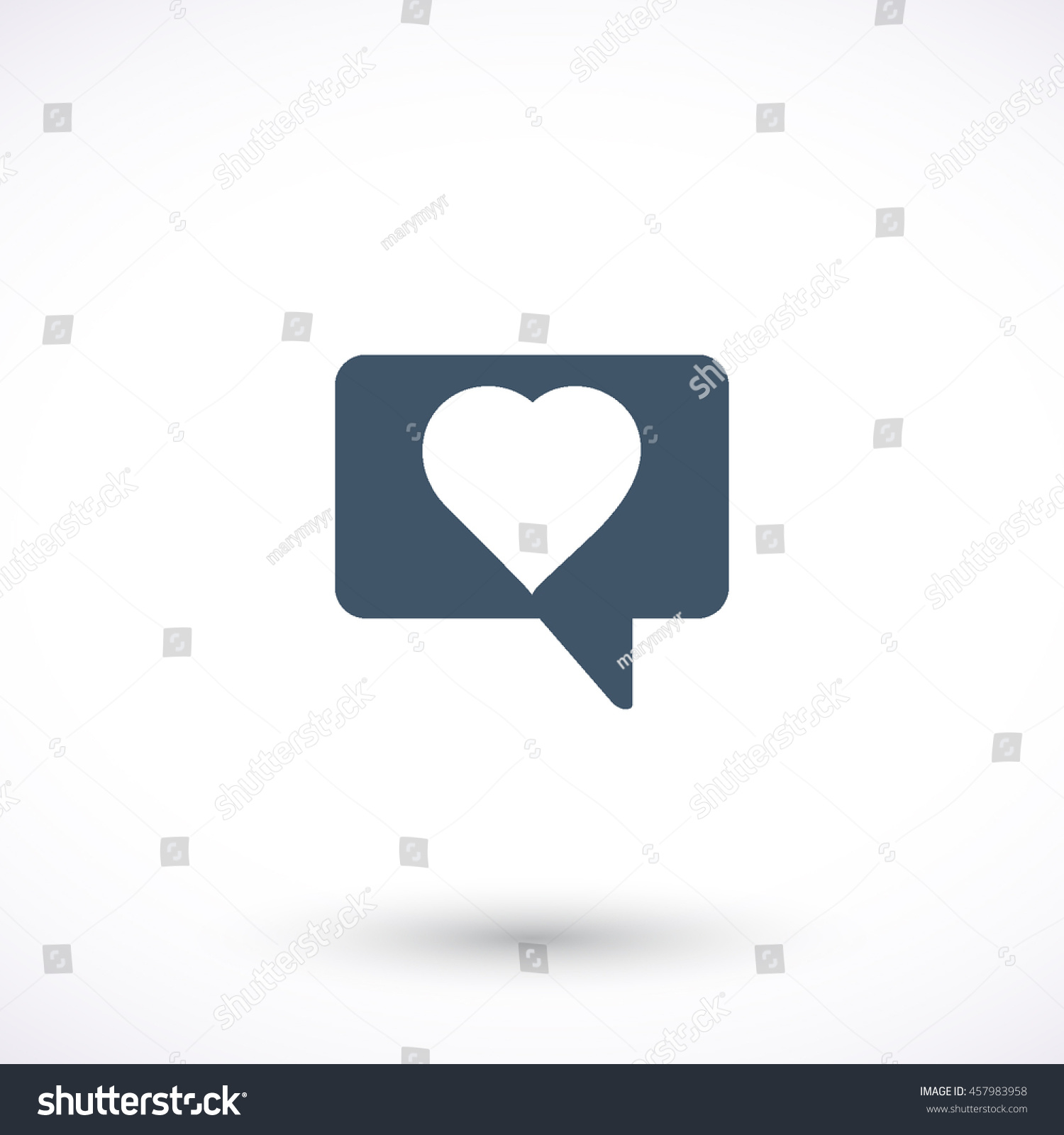 Message heart vector icon graphic symbol stock vector 457983958 message with heart vector icon graphic symbol for web design logo isolated sign biocorpaavc