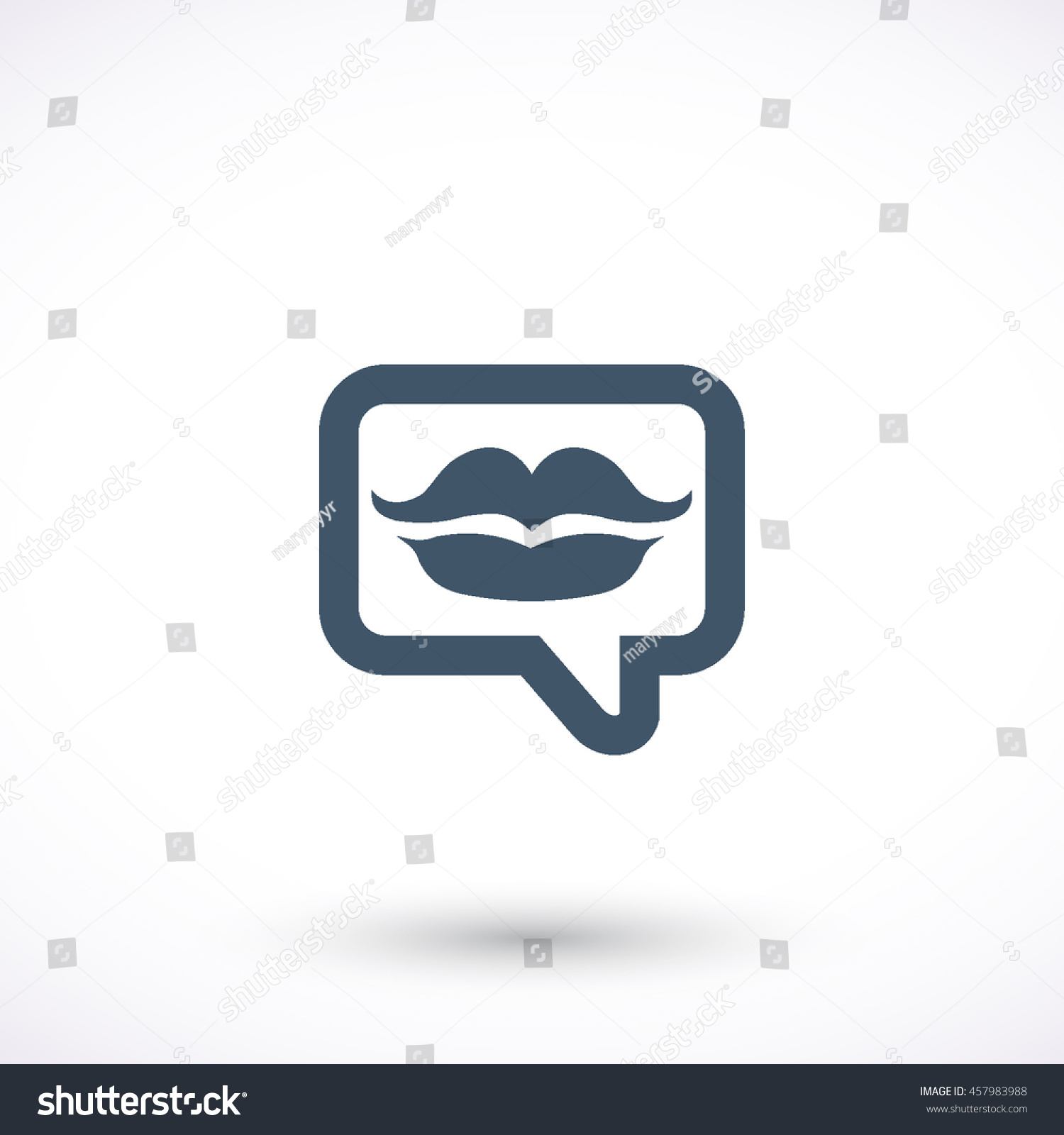 Message Kiss Vector Icon Graphic Symbol Stock Vector Royalty Free