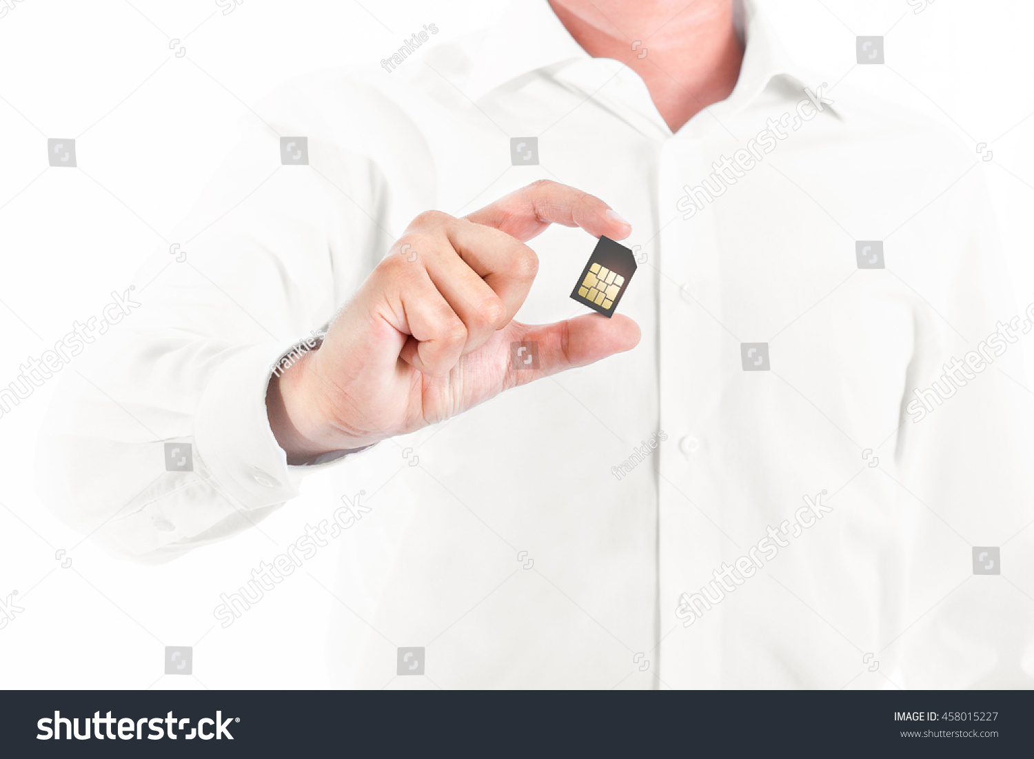 Business Man Showing Sim Card Stock Photo (Download Now) 458015227 ...