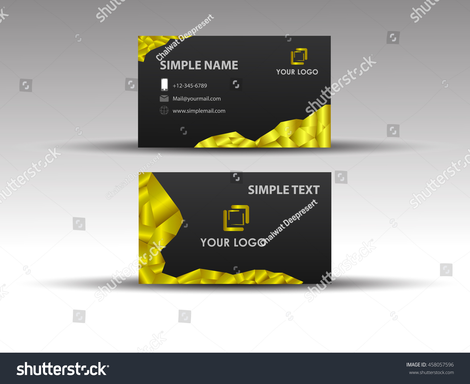 Business card reseller gallery free business cards black gold business card set vector stock vector 458057596 black and gold business card set vector magicingreecefo Images