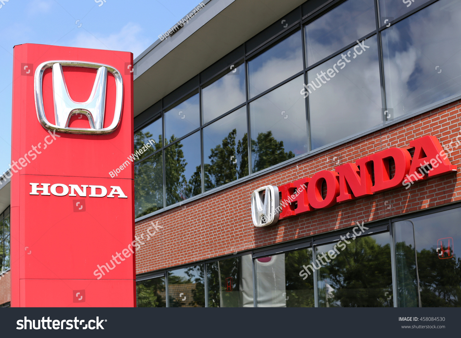 noordwijk netherlands july 3 2016 honda stock photo