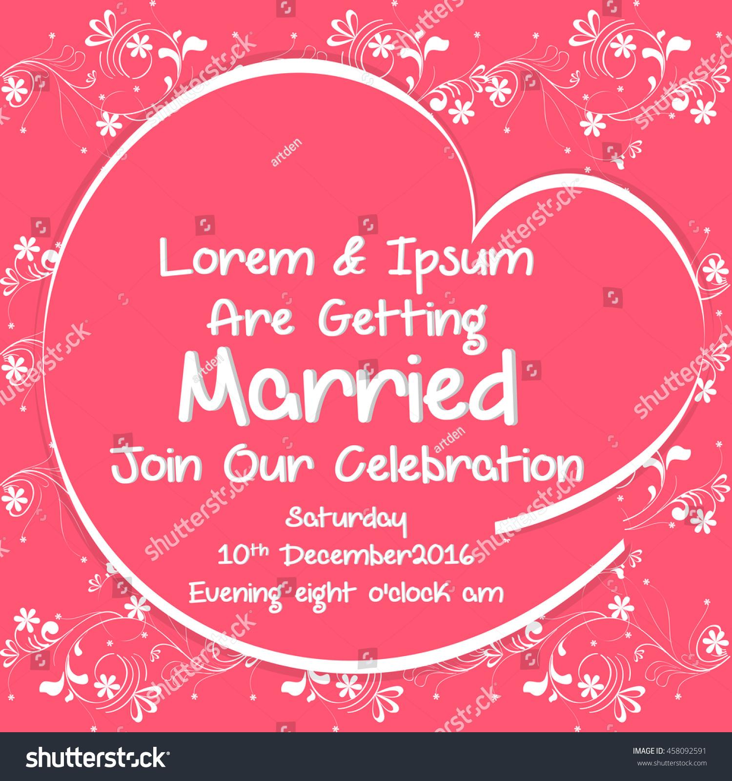 Creative Vector Wedding Invitation Card Templates Stock Vector ...