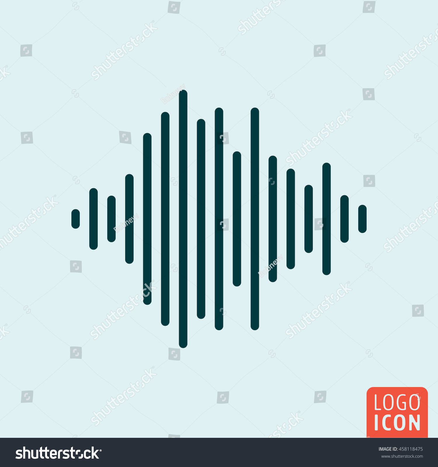 Sound Wave Icon Audio Equalizer Symbol Stock Vector (Royalty Free ...