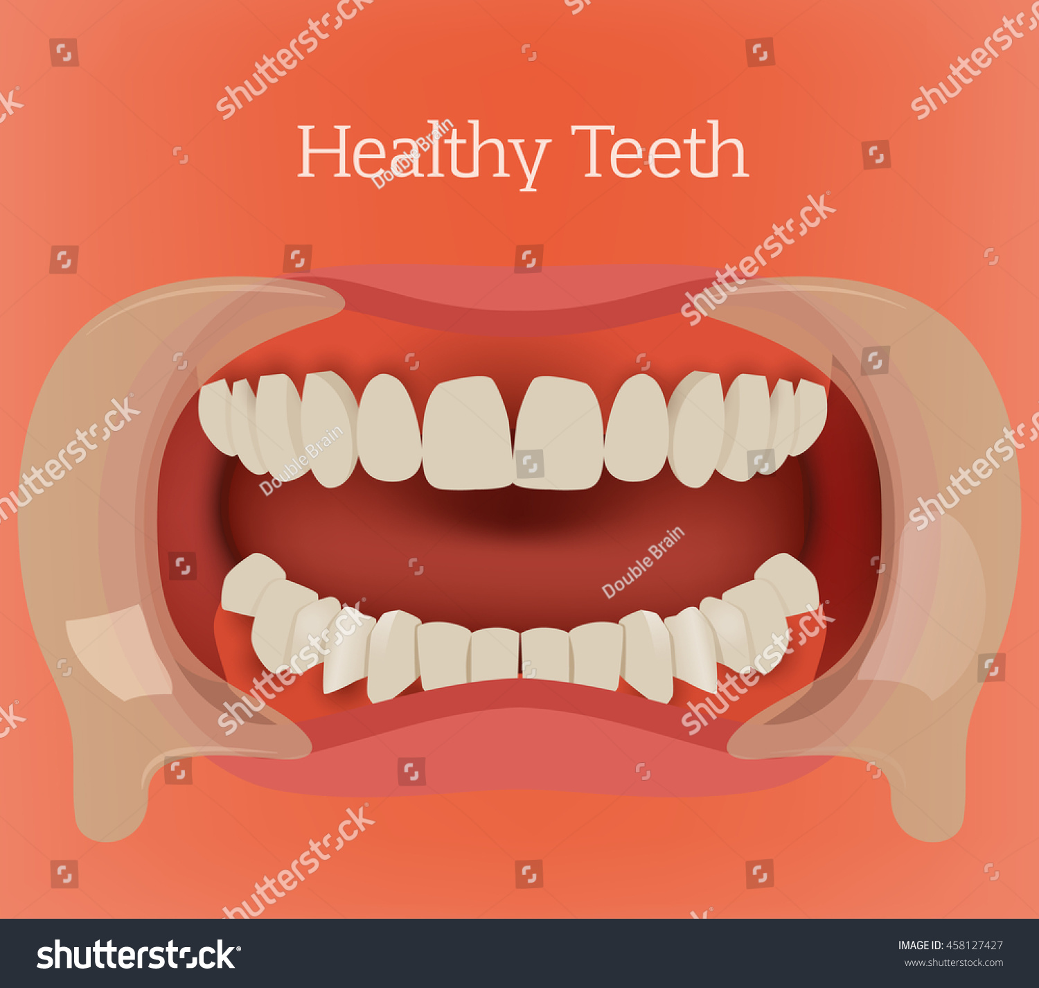 Healthy Teeth Illustration Vector Dental Image Stock Vektorgrafik