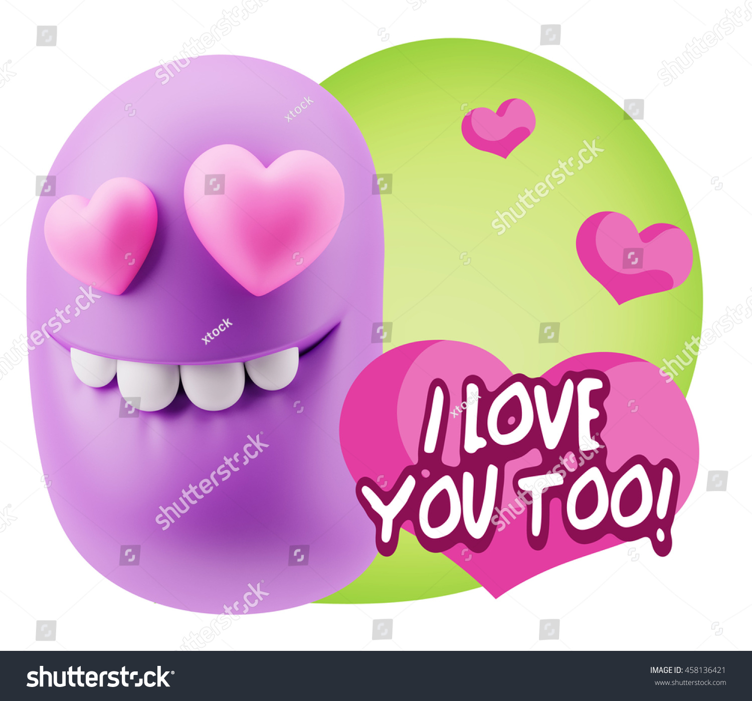 3d rendering emoji saying love you stock illustration 458136421 emoji saying i love you too with colorful speech bubble thecheapjerseys Gallery