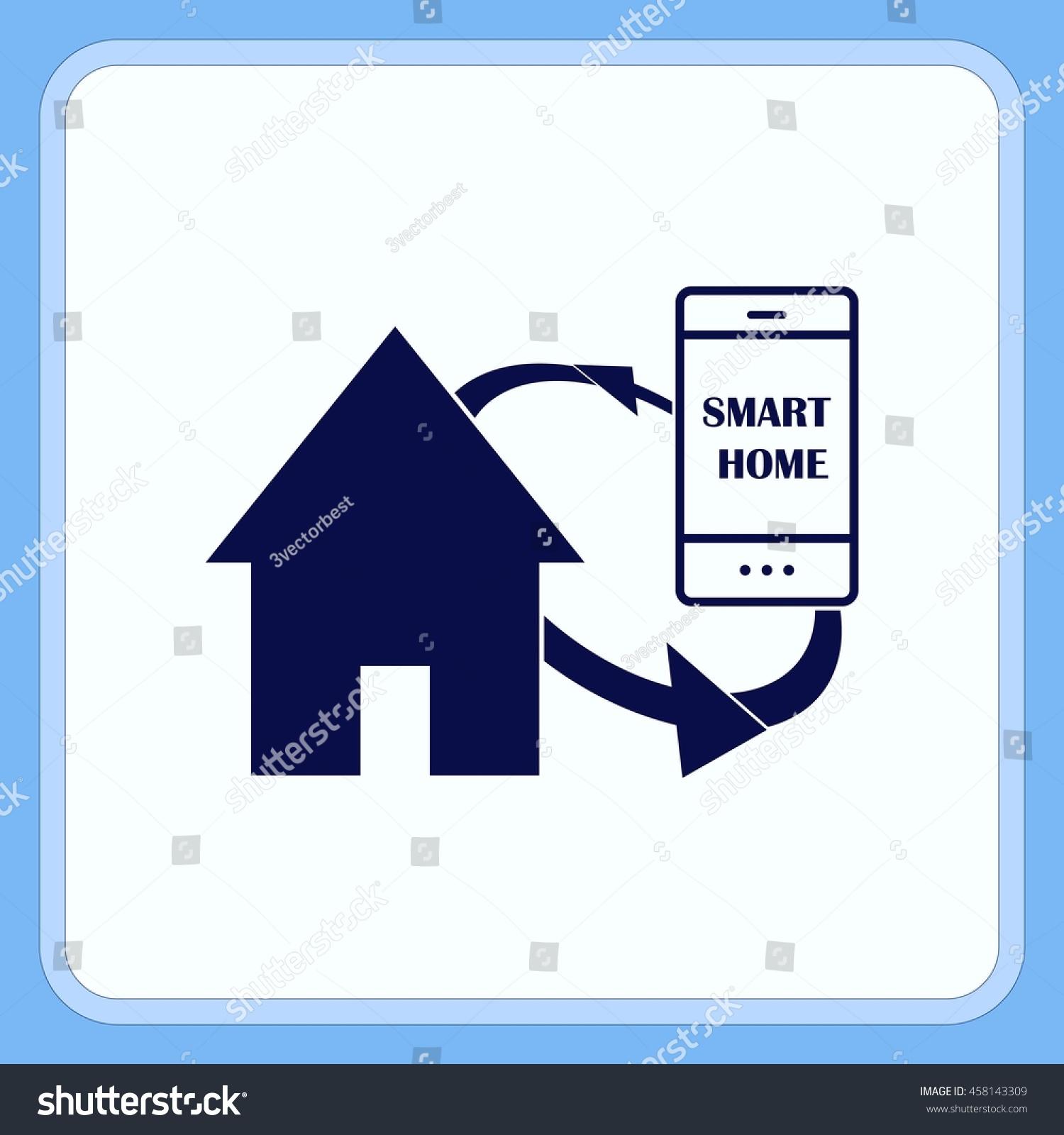 smart home cloud concept symbol vector stock vector 458143309 shutterstock. Black Bedroom Furniture Sets. Home Design Ideas
