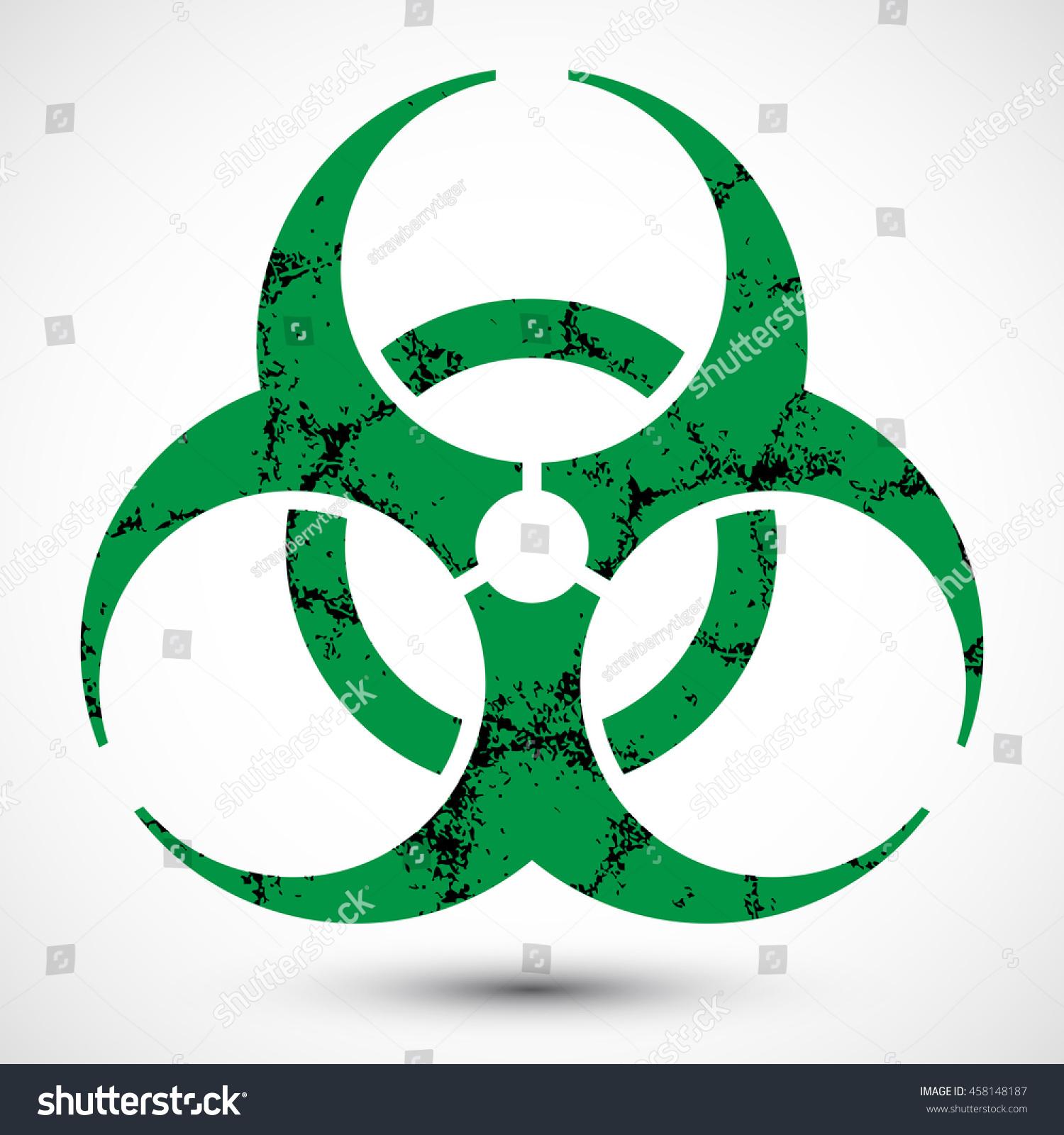 Biohazard Symbol Grunge Texture On Background Stock Illustration