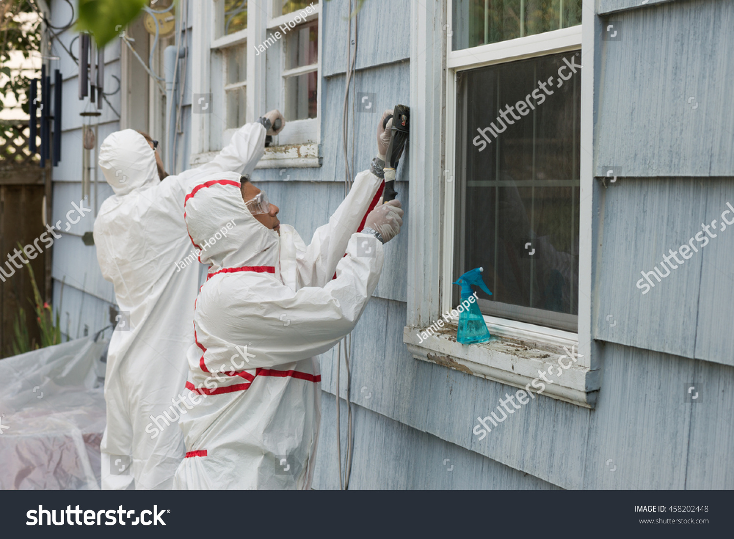 Two House Painters Hazmat Suits Removing Stock Photo 458202448 Shutterstock