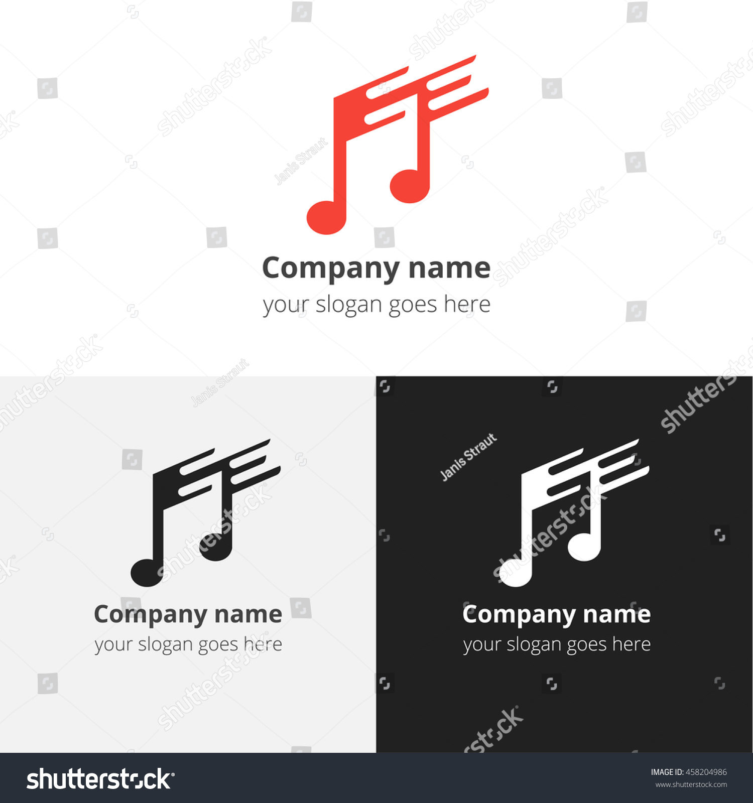 Music note fastslow motion beat flat stock vector 458204986 music note and fast slow motion beat flat logo icon emblem sign buycottarizona Image collections