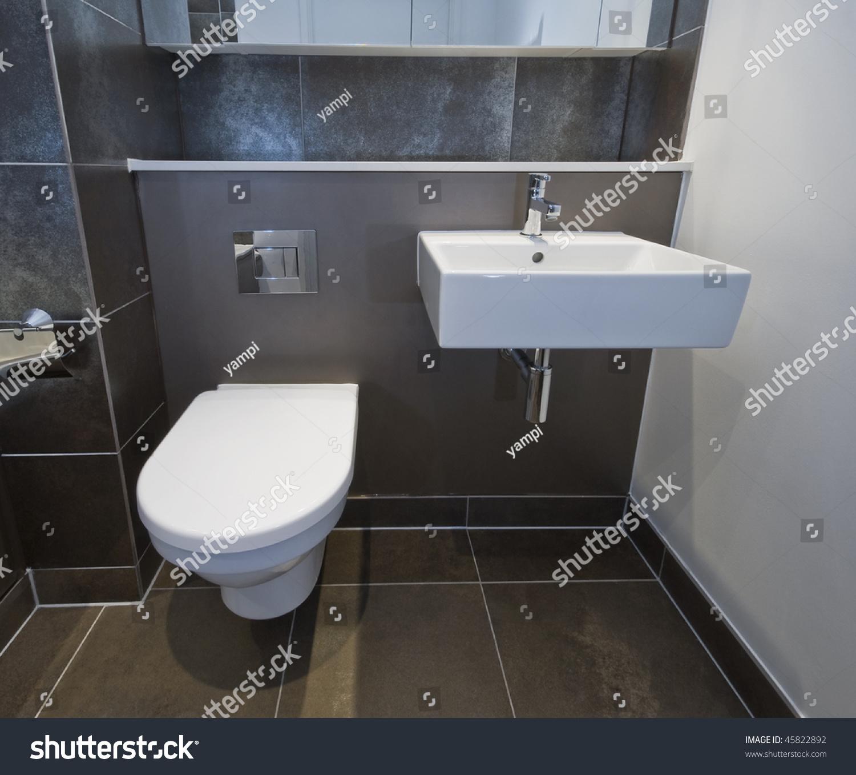 Closeup Toilet Sink Modern Bathroom Stock Photo (Edit Now) 45822892 ...