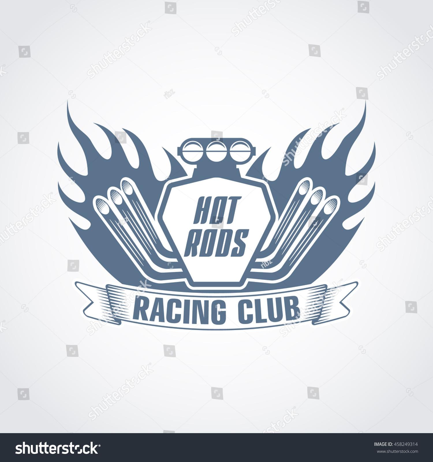 Vector Logo Sport Club Hot Rods Stock Vector Royalty Free
