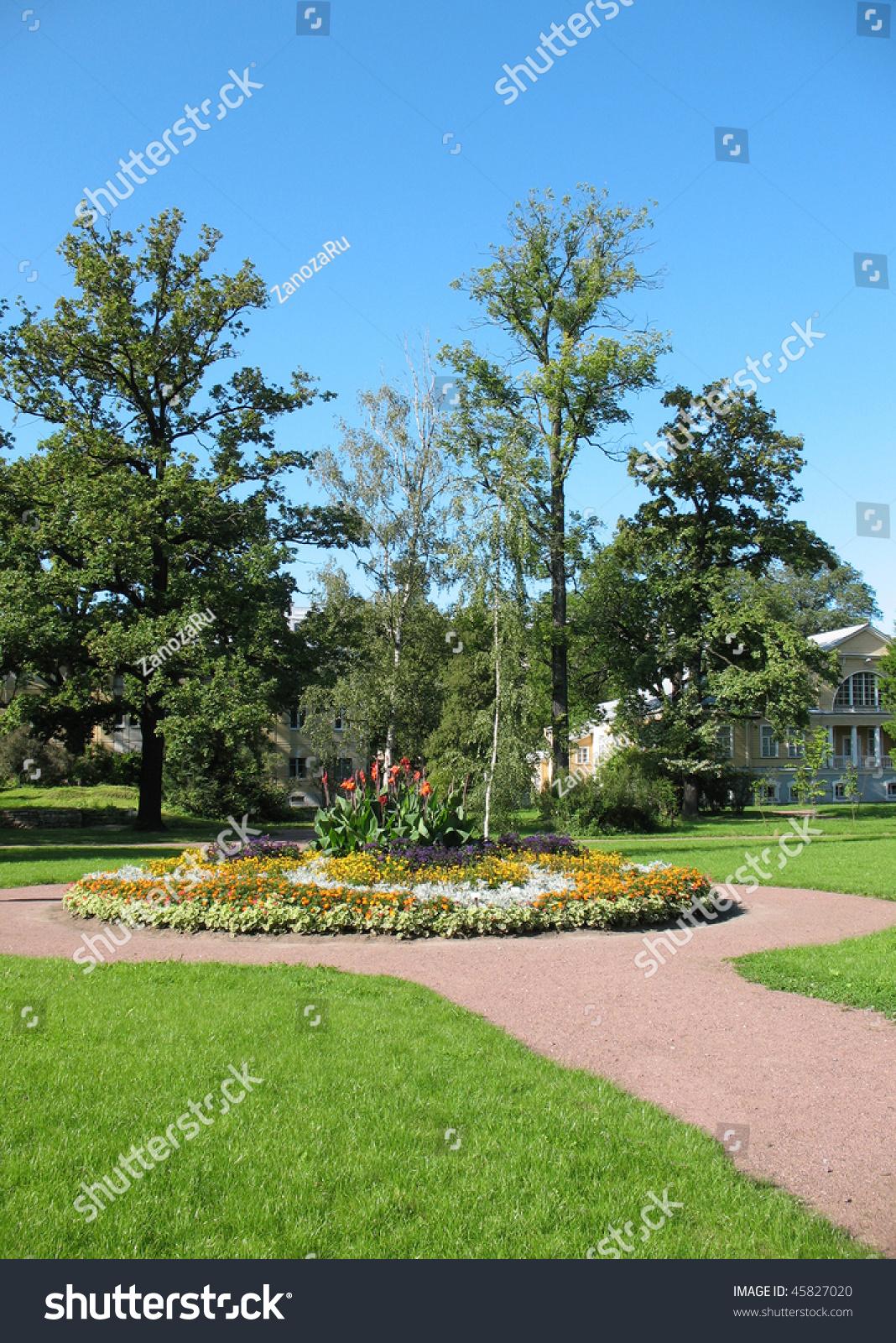 Flower Bed Botanical Gardens St Petersburg Stockfoto 45827020 Shutterstock