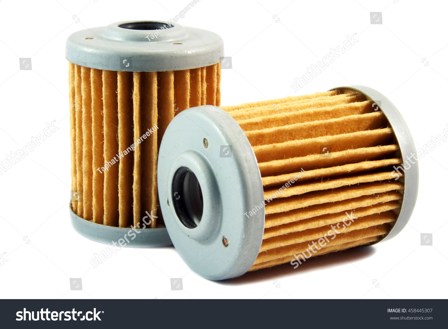 Fuel Filters Diesel Engine On White Stock Photo Edit Now 458445307 Filter Of Background