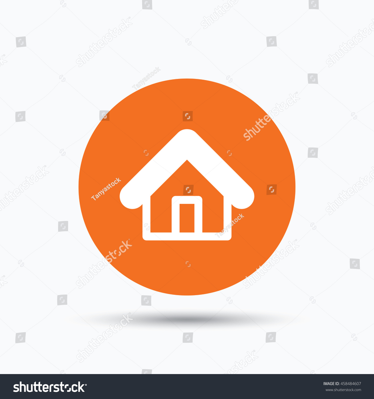 Home icon house building symbol real stock vector 458484607 home icon house building symbol real estate construction orange circle button with flat biocorpaavc Image collections