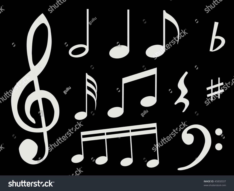 Different Kind Music Notes Symbol Sheet Stock Illustration 45850537