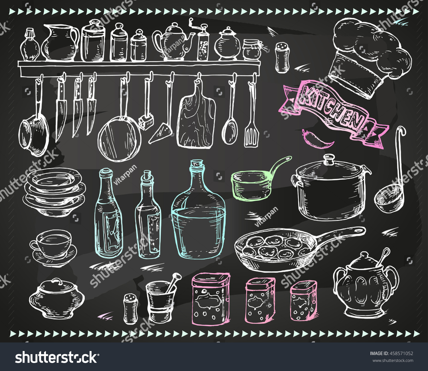 Vector graphics artistic set menu design stock vector for Artistic cuisine menu