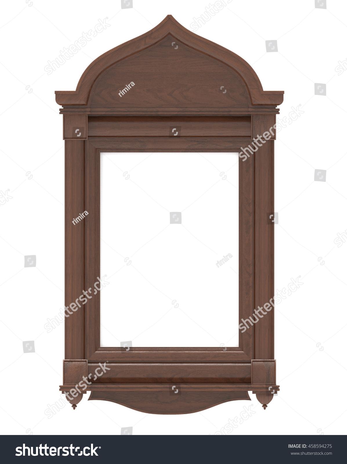 3 D Render Wooden Frame Icon On Stock Illustration 458594275 ...