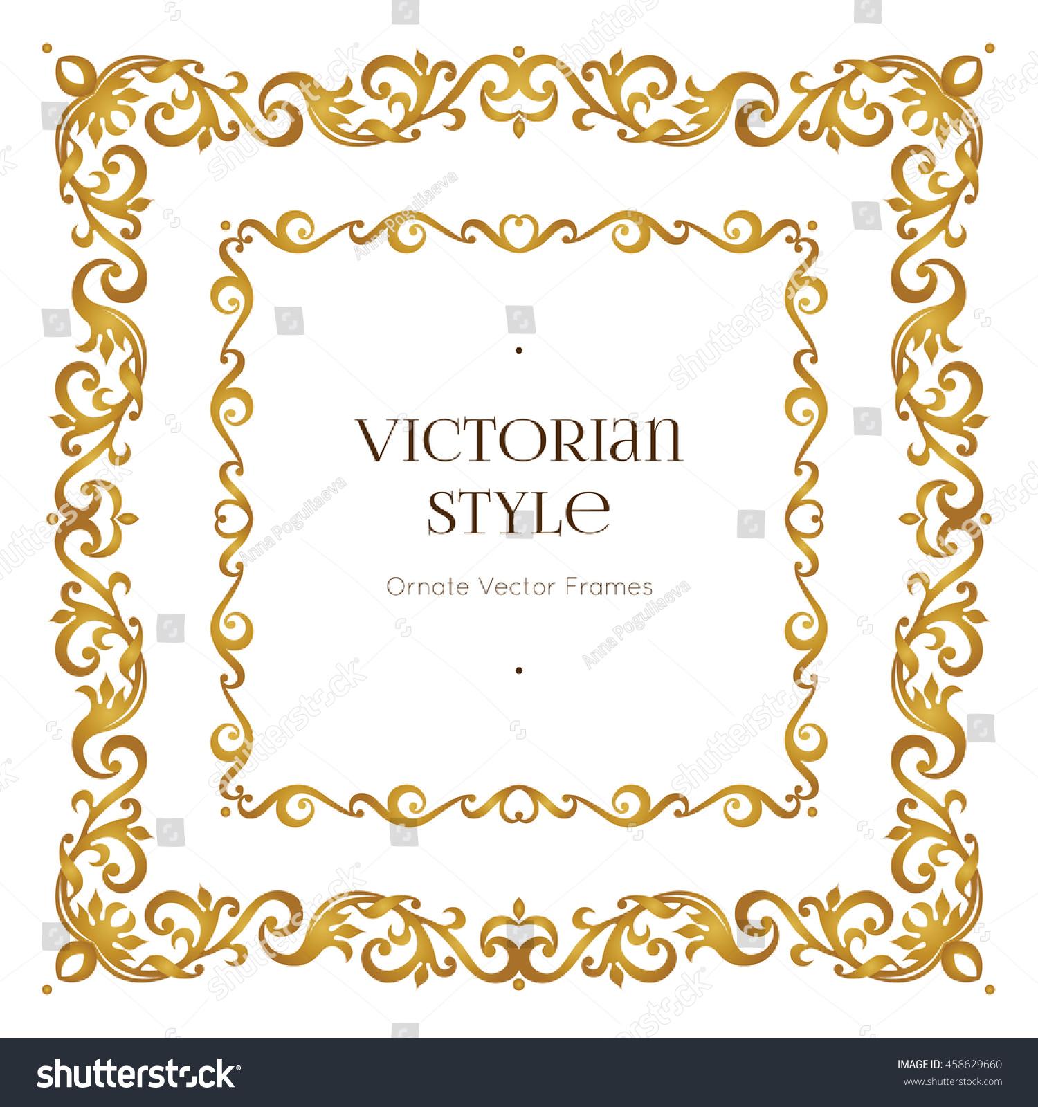 Vector Golden Precious Frame Design Template Stock Vector ... | 1500 x 1600 jpeg 700kB