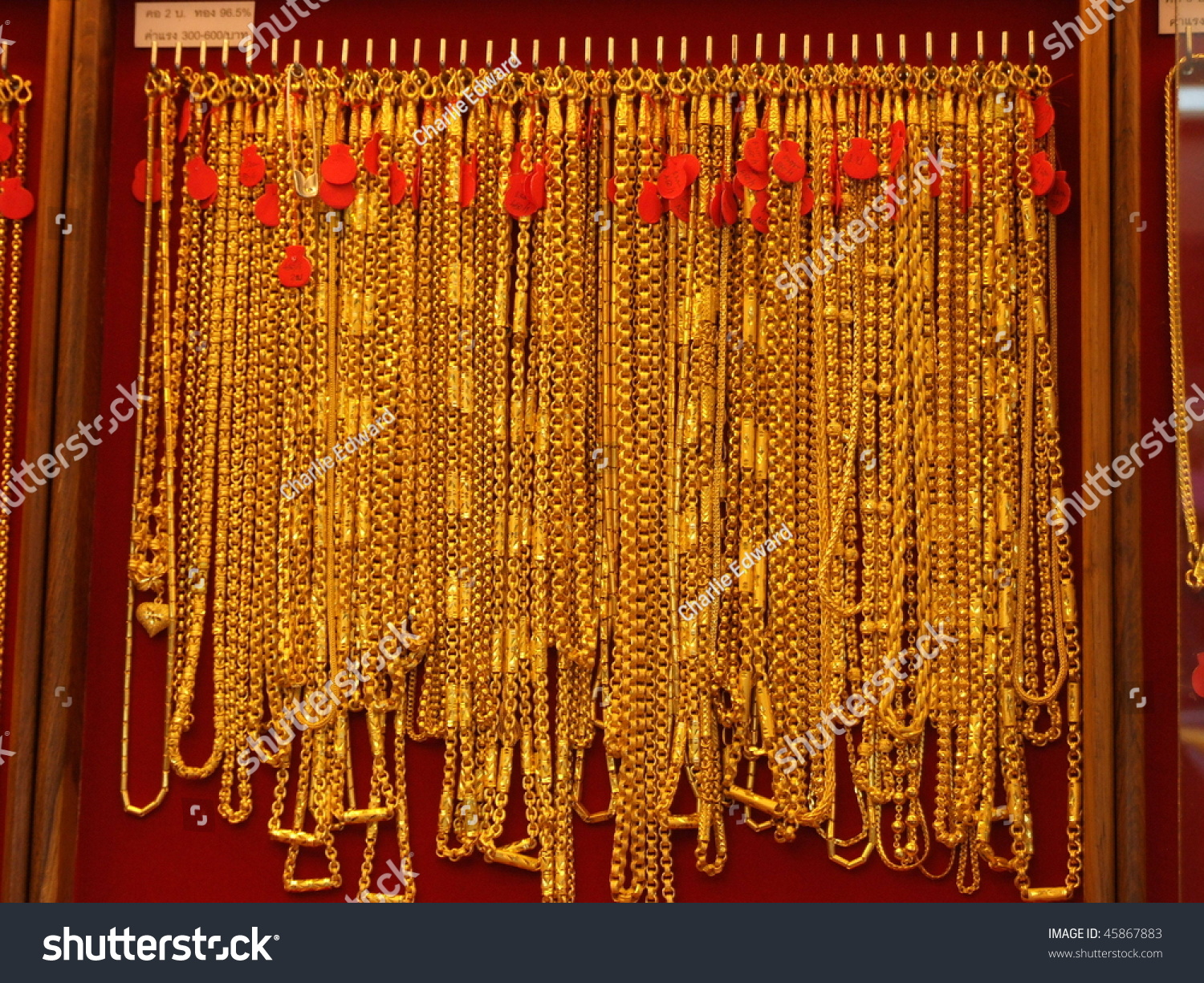 Gold Necklaces Bangkok Thailand Stock Photo Download Now 45867883