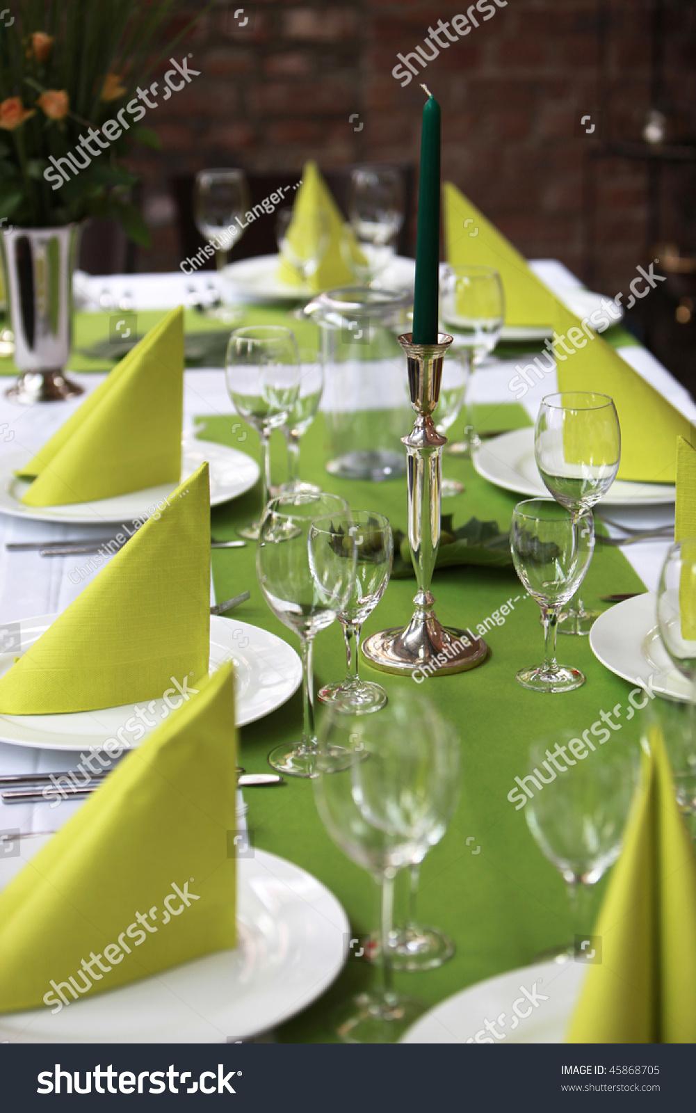 festlich gedeckter tisch stock photo 45868705 shutterstock. Black Bedroom Furniture Sets. Home Design Ideas