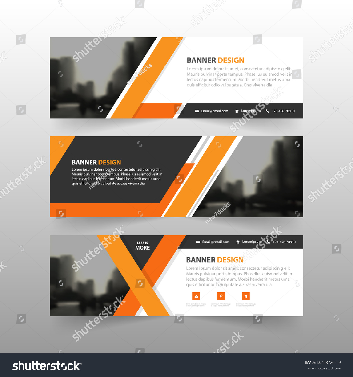 Orange Abstract Corporate Business Banner Template Stock Vector ...