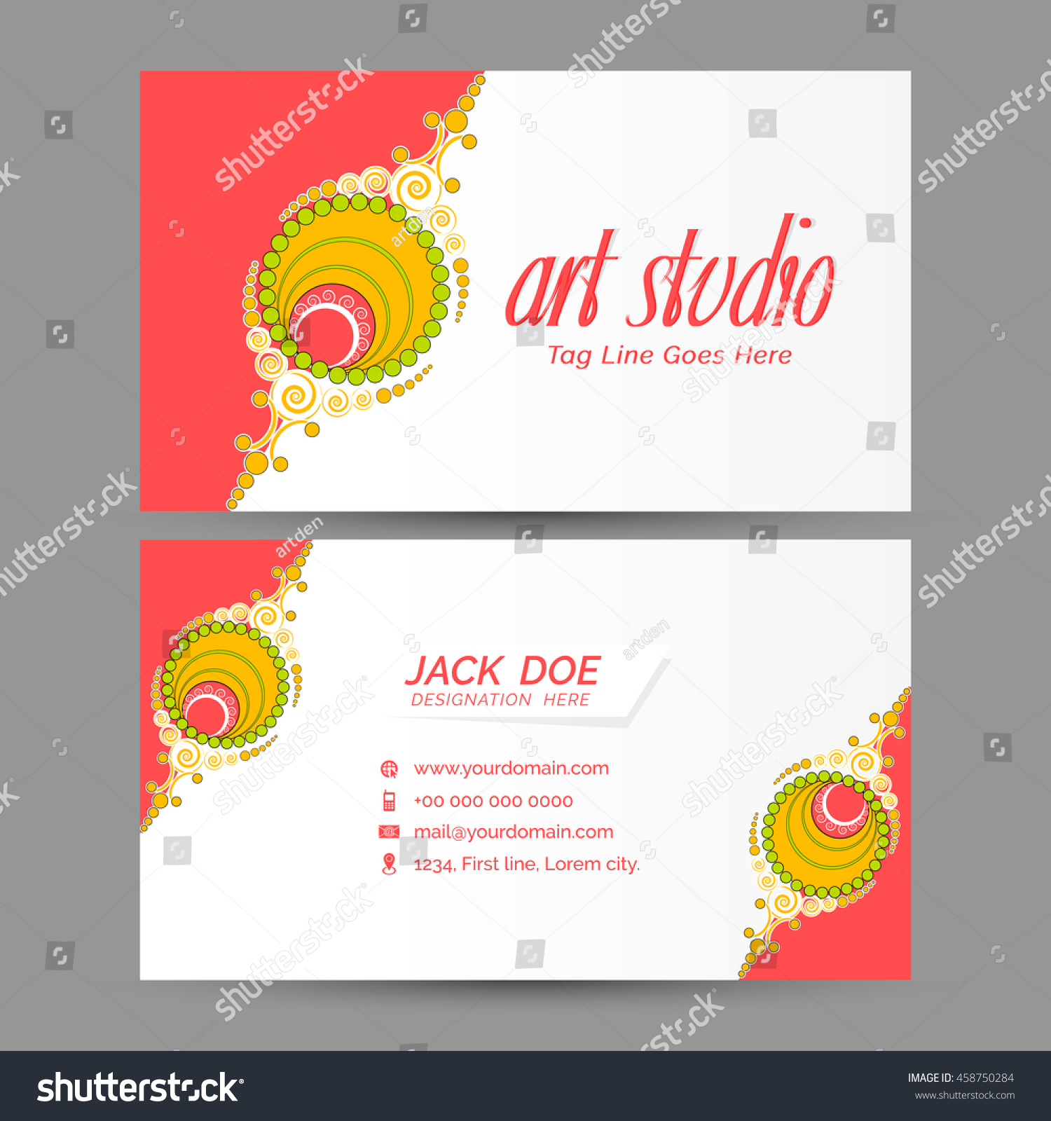 creative vector design templates visiting cards stock vector, Powerpoint templates