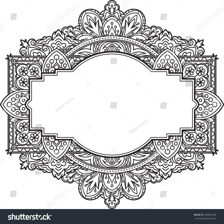 Ethnic Template Design Wedding Invitations Greeting Stock Vector ...