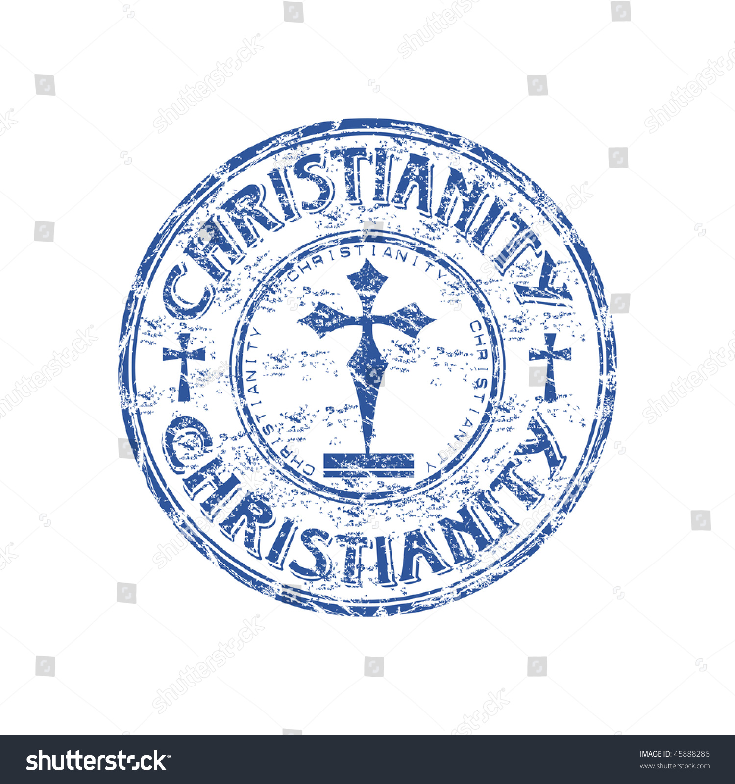 Blue grunge rubber stamp cross symbols stock vector 45888286 blue grunge rubber stamp with cross symbols and the word christianity written inside the stamp buycottarizona Choice Image