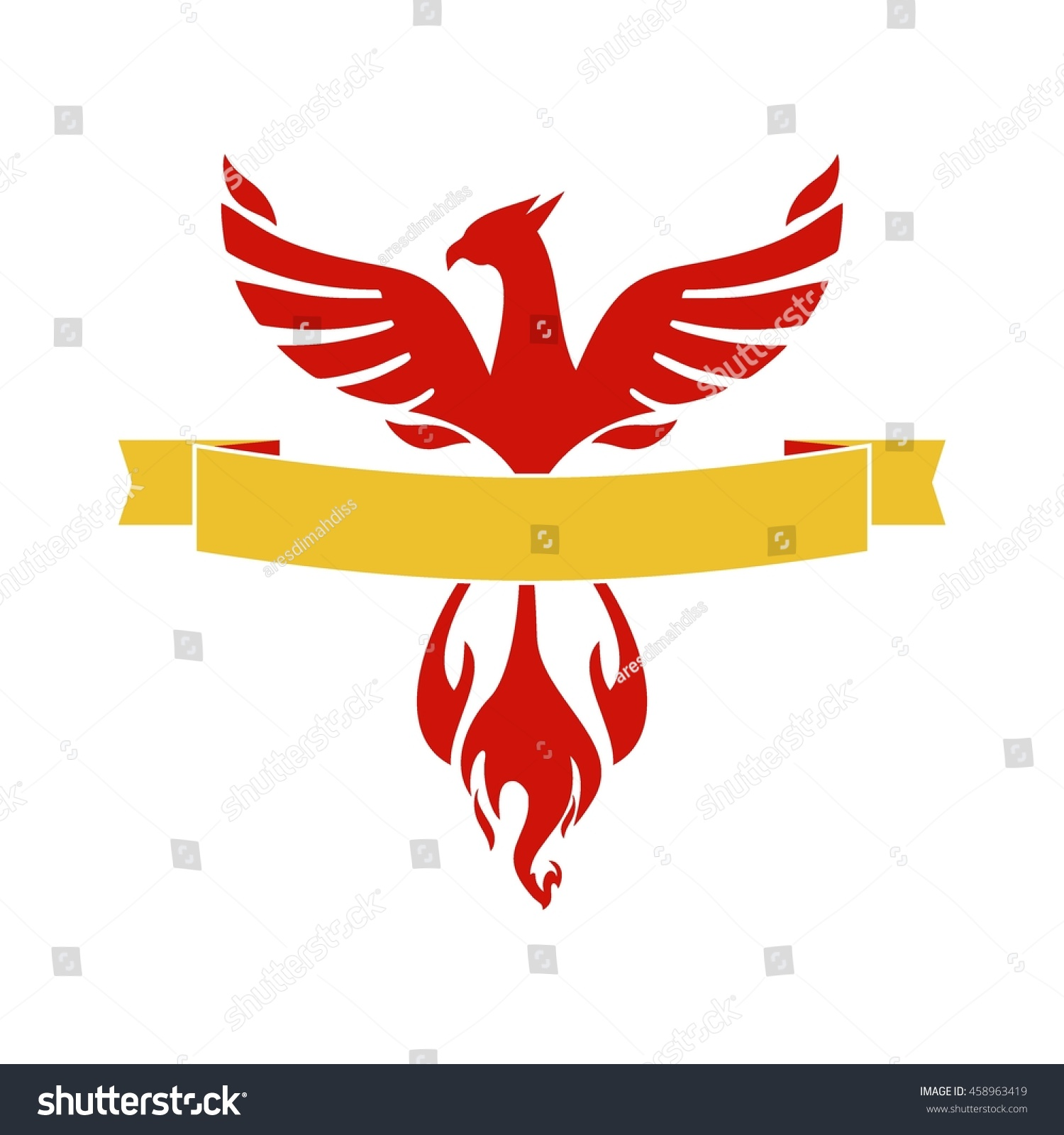 Phoenix Logo Template Firebird Eagle Logo Stock Vector Royalty Free 458963419