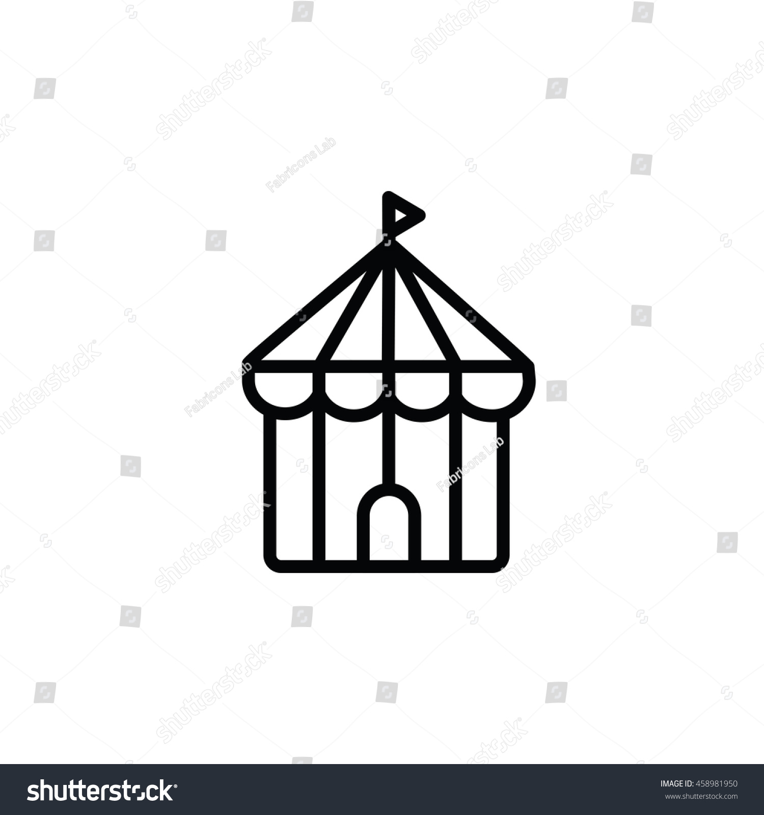 Circus Tent Outline Icon  sc 1 st  Shutterstock & Circus Tent Outline Icon Stock Vector 458981950 - Shutterstock