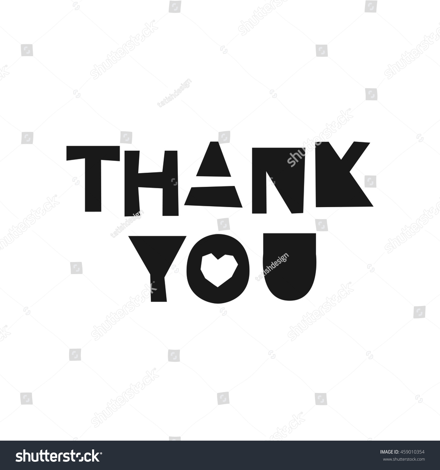 Thank You Card Typography Poster Paper Stock Vector