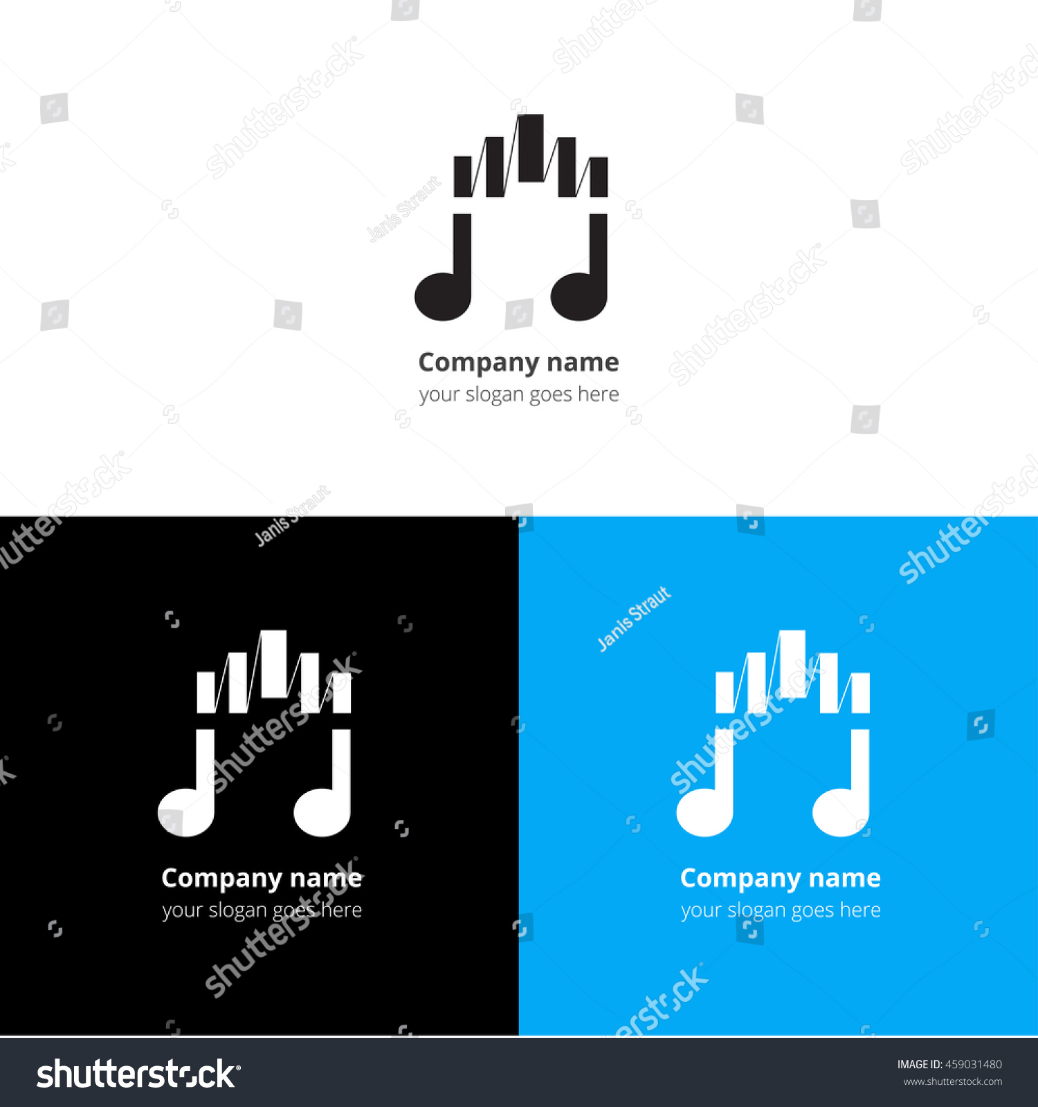 Music note logo icon sign emblem stock vector 459031480 shutterstock music note logo icon sign emblem motion equalizer wave beat vector template buycottarizona