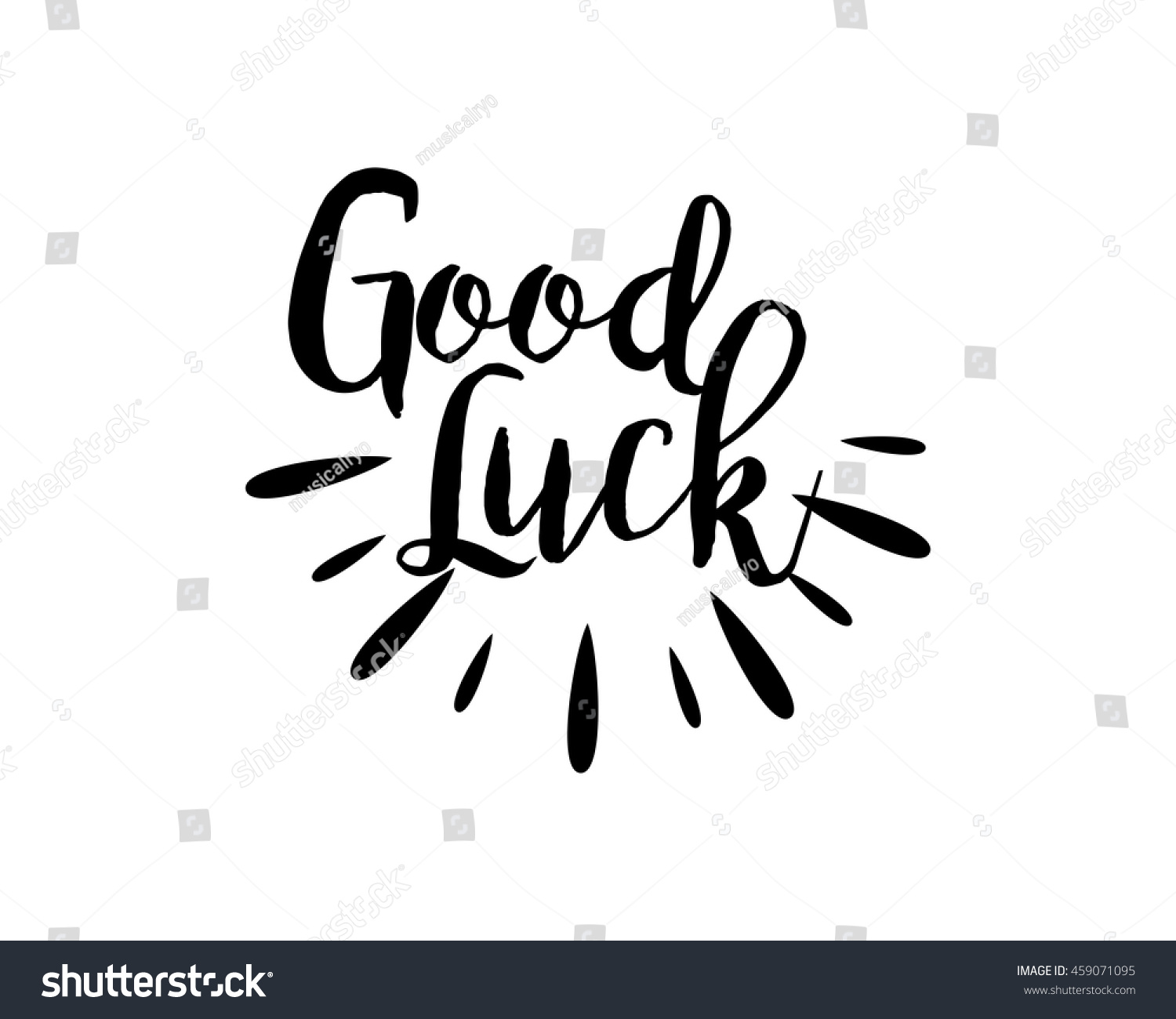 good luck typography typographic creative writing stock vector