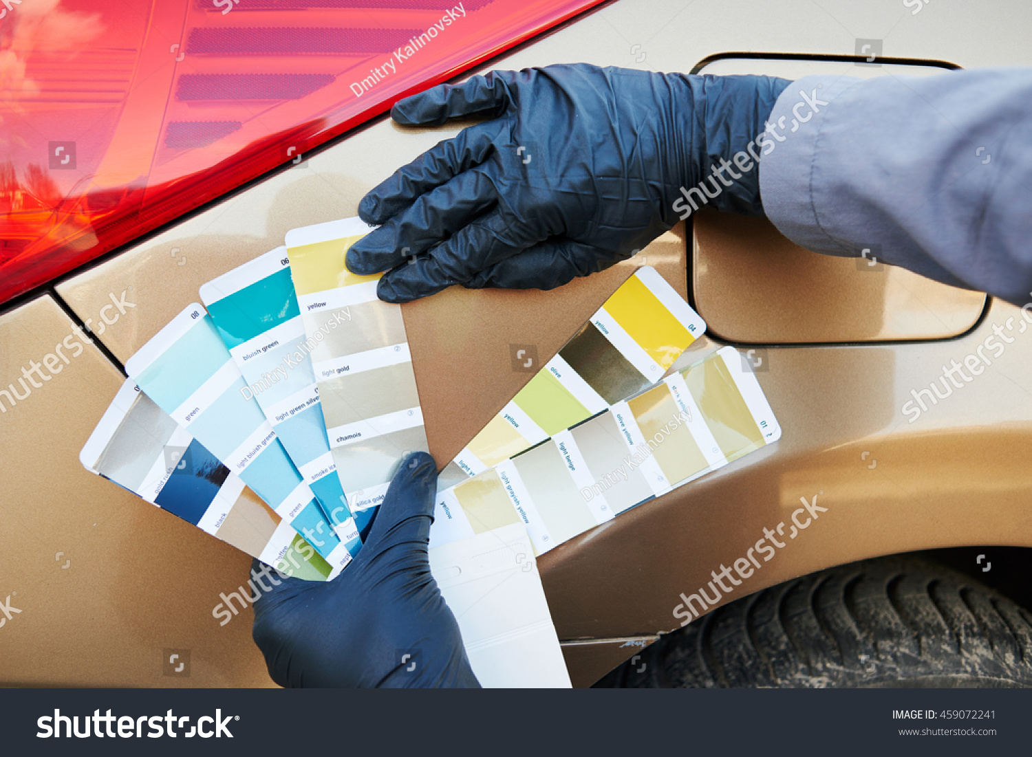 Auto Color Matching Colorists Man Selecting Stock Photo 459072241 ...