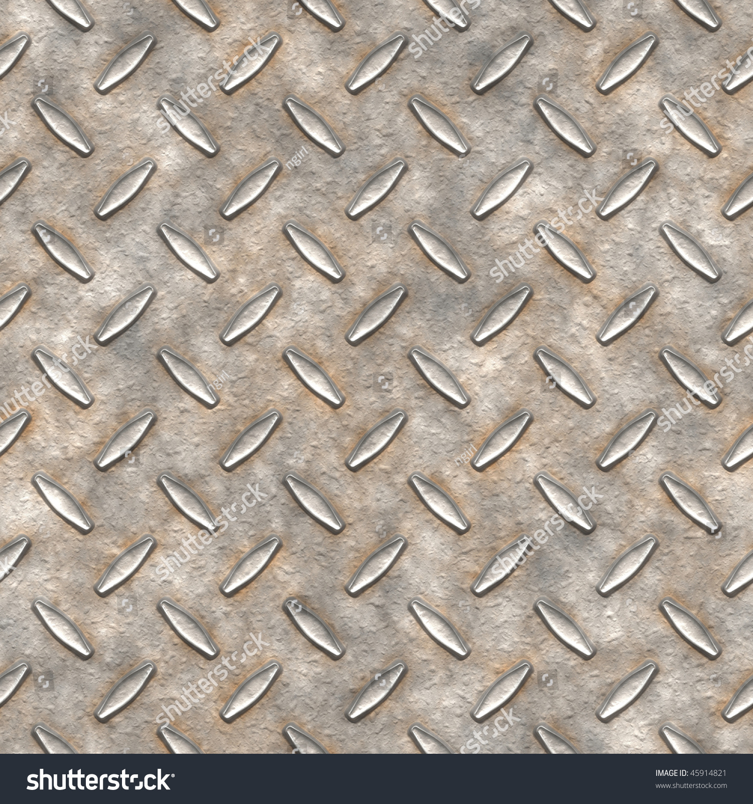 Dirty Metal Diamond Plate Texture For Flooring Is Seamless Pattern  Background And Has High Detail.